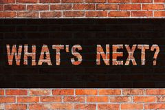 Σημάδι κειμένων που παρουσιάζει ποιο S Nextquestion Εννοιολογική φωτογραφία μετά από την καθοδήγηση βημάτων για να συνεχίσει ή στ ελεύθερη απεικόνιση δικαιώματος