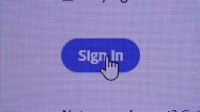 σημάδι κουμπιών απόθεμα βίντεο