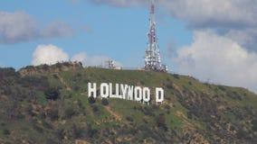 Σημάδι Hollywood από μια ψαρευμένη άποψη κατά τη διάρκεια της ημέρας απόθεμα βίντεο
