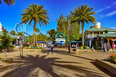 Σημάδι Seaword στην περιοχή κυριών είσοδος στο θεματικό πάρκο Seaworld στοκ φωτογραφία με δικαίωμα ελεύθερης χρήσης