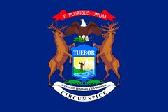 Σημαία του Μίτσιγκαν, ΗΠΑ απεικόνιση αποθεμάτων