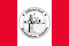 Σημαία του Μπέρμιγχαμ, Αλαμπάμα, ΗΠΑ διανυσματική απεικόνιση