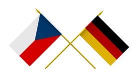 Σημαίες, τσεχικά και Γερμανία ελεύθερη απεικόνιση δικαιώματος