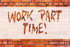 Σημείωση γραψίματος που παρουσιάζει εργασία μερική απασχόληση Επιχειρησιακή φωτογραφία που επιδεικνύει την εργασία Α που δεν είνα διανυσματική απεικόνιση