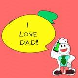 Σημείωση γραψίματος που παρουσιάζει μπαμπά αγάπης Ι Επιχειρησιακή φωτογραφία που επιδεικνύει τα καλά συναισθήματα για την ευτυχία απεικόνιση αποθεμάτων