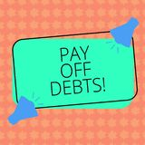 Σημείωση γραψίματος showingPay από τα χρέη Η πληρωμή επίδειξης επιχειρησιακών φωτογραφιών για το πράγμα εσείς έχει στις υποθήκες  διανυσματική απεικόνιση