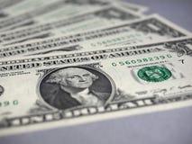 Σημειώσεις δολαρίων, Ηνωμένες Πολιτείες στοκ εικόνα με δικαίωμα ελεύθερης χρήσης
