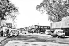 Σκηνή οδών σε Theunissen στο ελεύθερο κράτος μονοχρωματικός στοκ εικόνα με δικαίωμα ελεύθερης χρήσης