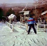 Σκιέρ στο χιονοδρομικό κέντρο Sugarbush στο Βερμόντ
