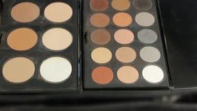 Σκιές ματιών βουρτσών Makeup απόθεμα βίντεο
