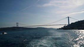 Σκιαγραφία της γέφυρας Bosphorus, Κωνσταντινούπολη, Τουρκία απόθεμα βίντεο