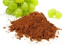 Σκόνη σταφυλιών OPC - υγιής διατροφή στοκ εικόνες