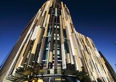 Σύγχρονος ζωηρόχρωμος η κυματίζοντας πρόσοψη της έδρας τράπεζας ASB, βόρεια αποβάθρα, τέταρτο Wynyard, Ώκλαντ, Νέα Ζηλανδία στοκ εικόνα με δικαίωμα ελεύθερης χρήσης