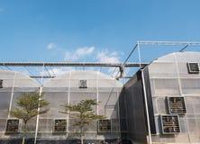 Σύγχρονο μεγάλο θερμοκήπιο στοκ φωτογραφία με δικαίωμα ελεύθερης χρήσης