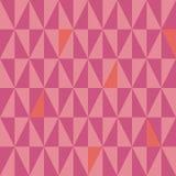 Σύγχρονο μικρό γεωμετρικό σχέδιο τριγώνων ροζ και κοραλλιών Δονούμενο άνευ ραφής διανυσματικό σχέδιο με το καυτό καλοκαίρι vibe ελεύθερη απεικόνιση δικαιώματος