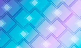 Σύγχρονο υπόβαθρο με τα μπλε και τυρκουάζ τετράγωνα διανυσματική απεικόνιση