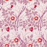 Σύγχρονο floral άνευ ραφής σχέδιο για το σχέδιό σας απεικόνιση αποθεμάτων