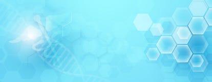Σύμβολο και περίληψη κηρυκείων γεωμετρικά με το υπόβαθρο έννοιας ιατρικής και επιστήμης διανυσματική απεικόνιση