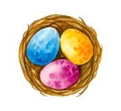 Σύνολα Πάσχας Watercolor ελεύθερη απεικόνιση δικαιώματος
