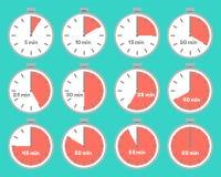 Σύνολο χρονομέτρων με τα χρονικά διαστήματα