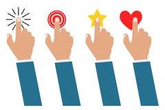 Σύνολο smartphone οθόνης αφής χεριών επιχειρηματιών ή κινητού τηλεφώνου που απομονώνεται ελεύθερη απεικόνιση δικαιώματος