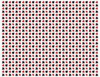 Σύσταση των εικονιδίων πόκερ στο Μαύρο απεικόνιση αποθεμάτων