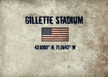 Στάδιο του Gillette, Foxboro, μΑ ελεύθερη απεικόνιση δικαιώματος