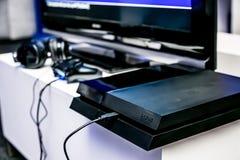 Σταθμός PS4 παιχνιδιού στο γεγονός έναρξης στοκ φωτογραφίες με δικαίωμα ελεύθερης χρήσης