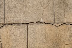 Στενοχωρημένος μεγάλος τοίχος φραγμών πετρών με τις ρωγμές για το φυσικό υπόβαθρο στοκ εικόνα με δικαίωμα ελεύθερης χρήσης