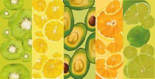 Στενός επάνω φρούτων και λαχανικών απαγορευμένα επίσης corel σύρετε το διάνυσμα απεικόνισης Υγιή τρόφιμα έννοιας απεικόνιση αποθεμάτων