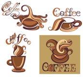 στοιχεία σχεδίου φλυτζανιών συλλογής καφέ Διακοσμητικά στοιχεία φλυτζανιών για την απεικόνιση designVector σας διανυσματική απεικόνιση