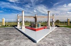 Στρατιωτικό αεροδιαστημικό μνημείο μνημείων Cozumel Μεξικό βάσεων στοκ εικόνες