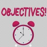 Στόχοι κειμένων γραψίματος λέξης Η επιχειρησιακή έννοια για τους στόχους προγραμμάτισε να είναι πραγματοποιημένοι επιθυμητοί στόχ απεικόνιση αποθεμάτων