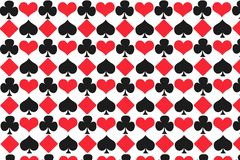 Σχέδιο απεικόνισης καρτών τυχερού παιχνιδιού με ένα άσπρο υπόβαθρο διανυσματική απεικόνιση