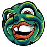 Σχέδιο ενός emoticon με ένα κακό πρόσωπο διανυσματική απεικόνιση