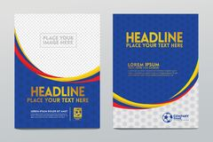 Σχέδιο προτύπων σχεδιαγράμματος της αφίσας ή της κάλυψης και των χρηστών άλλοι για την αθλητική εκδήλωση ποδοσφαίρου διανυσματική απεικόνιση