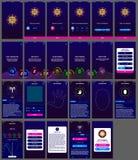 Σχέδιο app ωροσκοπίων ui αρρενωπό διανυσματική απεικόνιση