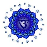 Σχέδιο mandala κύκλων Διανυσματική απεικόνιση chakra Ajna στοκ φωτογραφίες με δικαίωμα ελεύθερης χρήσης
