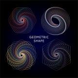 Συλλογή συμβόλων γεωμετρίας hipster, περίληψη, αλχημεία, πνευματικά, απόκρυφα στοιχεία καθορισμένα διανυσματική απεικόνιση