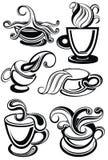 Συλλογή φλυτζανιών καφέ για το σχέδιό σας επίσης corel σύρετε το διάνυσμα απεικόνισης ελεύθερη απεικόνιση δικαιώματος