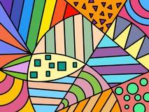 Συρμένο χέρι πολύχρωμο υπόβαθρο, μορφές, χρώμα, τέχνη, γεωμετρικός αφηρημένος, χειρόγραφη διανυσματική απεικόνιση