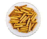 Σωρός των ραβδιών ψωμιού με την παπαρούνα στο πιάτο που απομονώνεται στο λευκό Τοπ όψη στοκ φωτογραφίες με δικαίωμα ελεύθερης χρήσης