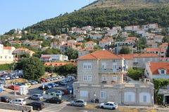 Σπίτια στην παλαιά πόλη Dubrovnik Κροατία στοκ εικόνα