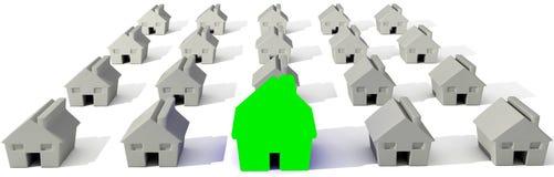 σπίτια που απομονώνονται τρισδιάστατα πέρα από το λευκό απεικόνιση αποθεμάτων