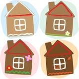 Σπίτι μελοψωμάτων μέσω του έτους ελεύθερη απεικόνιση δικαιώματος