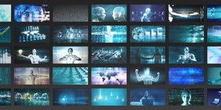 Ψηφιακά πολυμέσα ελεύθερη απεικόνιση δικαιώματος