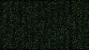Ψηφιακή σφαίρα μητρών που πέφτει κάτω από πράσινο απεικόνιση αποθεμάτων