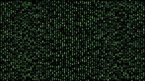 Ψηφιακό δυαδικό μητρών που πέφτει κάτω από πράσινο ελεύθερη απεικόνιση δικαιώματος