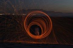 Τέχνη φωτογραφιών Steelwool τρομερή στοκ φωτογραφίες