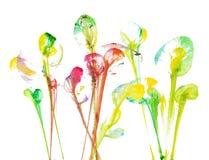 Τέχνη που χρωματίζει τα αφηρημένα λουλούδια διανυσματική απεικόνιση